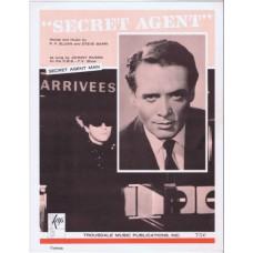 "Secret Agent (TV show ""Secret Agent Man"") as sung by JOHNNY RIVERS (P.F. Sloan / Steve Barri) sheet music"