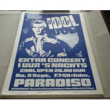 BILLY IDOL Paradiso Amsterdam Thu Sept.09 '80 concert poster/only 125 made mint-