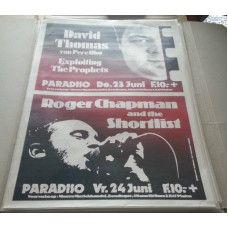 DAVID THOMAS (PERE UBU) / ROGER CHAPMAN AND THE SHORTLIST - Paradiso Amsterdam 23-06-1983 original concert poster (61x43cm)