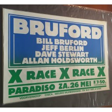 BILL BRUFORD - Paradiso Amsterdam 26 05 1979 original concert poster (43x61cm)