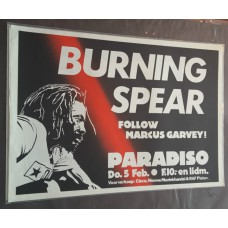 BURNING SPEAR - Paradiso Amsterdam 05-02-1981 original concert poster (43x61cm)