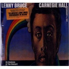 LENNY BRUCE Carnegie Hall (United Artists UAS 9800) USA 1972 3-LP set