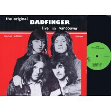 BADFINGER Live In Vancouver (Ivys) Live LP