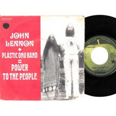 JOHN LENNON PLASTIC ONO BAND Power To The People / Open Your Box (Apple 04766) French PS 45