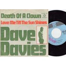 DAVE DAVIES Death Of A Clown (PYE) Germany 1967 PS 45 Kinks