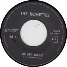 RONETTES Be My Baby (London 5448) France 1963 45