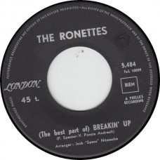 (London 5484) RONETTES Breakin' Up French 1964 45