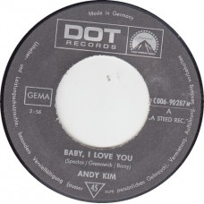 ANDY KIM Baby I Love You / Gee Girl (DOT 90287) Germany 1969 45