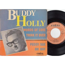 BUDDY HOLLY Peggy Sue +3 (Coral) French PS EP