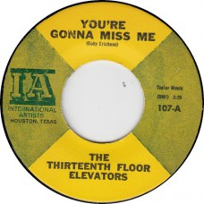 13th FlOOR ELEVATORS You're Gonna Miss Me (IA) USA Variation lab