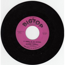 ANDREA CARROLL It Hurts To Be Sixteen (Bigtop) USA 1962 45