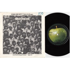Apple 20 BADFINGER Come And Get It / Rock Of All Ages UK 1969 PS 45