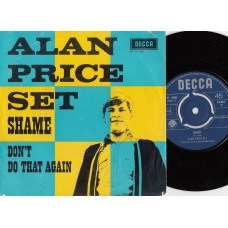 ALAN PRICE SET Shame (Decca) Holland 1967 PS 45
