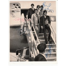 BEATLES Photo (Autographed) autographed by all 4 of them