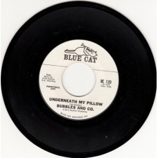 BUBBLES AND CO. Underneath My Pillow (Blue Cat) USA promo 45