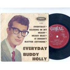 BUDDY HOLLY Everyday +3 (Coral) Australia PS EP