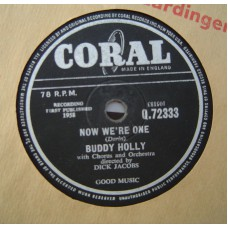 BUDDY HOLLY Now We're One / Early In The Morning (Coral) 78RPM