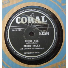 BUDDY HOLLY Peggy Sue / Everyday (Coral 72293) UK 78RPM