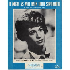 CAROLE KING It Might As Well Rain Untill September (Sheet Music)