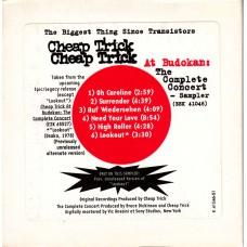 CHEAP TRICK At Budokan Sampler (Sony) USA Promo Only CD