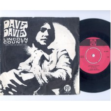 DAVE DAVIES Lincoln County / There Is No Life Without Love (PYE 17514) Holland 1968 PS 45 (Kinks)