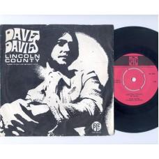 DAVE DAVIES Lincoln County (PYE) Holland PS 45 (Kinks)