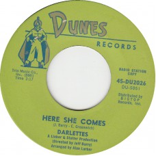 DARLETTES Just You / Here She Comes DUNES 2026) USA 1963 45