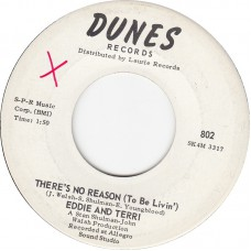 EDDIE AND TERRI There's No Reason / Eddie and Terri's Theme (DUNES 802) USA 1960 45