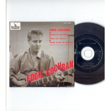 EDDIE COCHRAN C'Mon Everybody +3 (Liberty) French EP CD