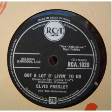 ELVIS PRESLEY - Got A Lot O Livin To Do / Party (RCA 1020) UK 78RPM