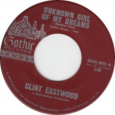 CLINT EASTWOOD Unknown Girl Of My Dreams (Gothic) USA 1961 45
