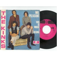 KINKS Mr. Pleasant / This Where I Belong (Hit-ton 300086) Germany 1967 PS 45