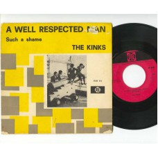 KINKS A Well Respected Man / Such A Shame (Pye 7NH 111) Holland 1965 PS 45