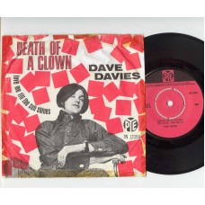 DAVE DAVIES Death Of A Clown (PYE) Holland PS 45 (Kinks)