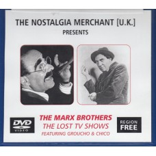 MARX BROTHERS The Lost TV Shows (The Nostalgia Merchant) UK DVD-