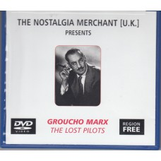 GROUCHO MARX The Lost Pilots (The Nostalgia Merchant) UK DVD-R R