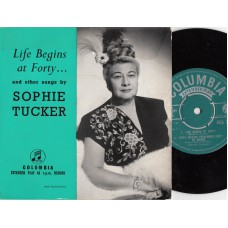 SOPHIE TUCKER Life Begins At Forty +3 (Columbia) UK 1958 PS EP
