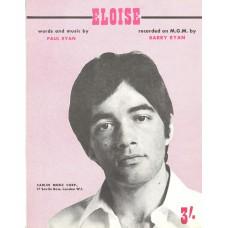 BARRY RYAN Eloise (Sheet Music) UK