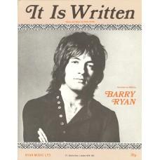 BARRY RYAN It Is Written (Sheet Music) UK