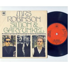 SIMON AND GARFUNKEL Mrs Robinson / April Come She Will / Scarborough Fair / Canticle / The Sound Of Silence (CBS 6400) UK 1966 PS EP