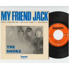 SMOKE My Friend Jack / Don't Lead Me One / We Can Take It / Waterfall (Impact 200010) France 1967 PS EP