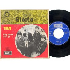 THEM Gloria / Baby Please Don't Go (Decca 79091) France PS 45