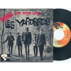 YARDBIRDS For Your Love / Got To Hurry / A Certain Girl / I Wish You Would (Riviera 231074) France 1964 PS EP